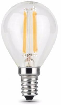 Лампа светодиодная филаментная E14 7W 2700К шар прозрачный 105801107