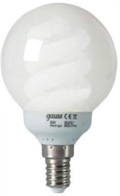 Лампа энергосберегающая шар Gauss E14 13W 2700K 231113