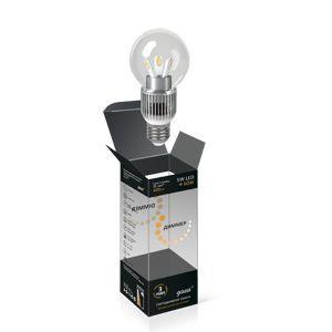 Лампа светодиодный шар для хрустальных люстр (прозрачный) 5W E27 2700K диммируемая HA105202105-D