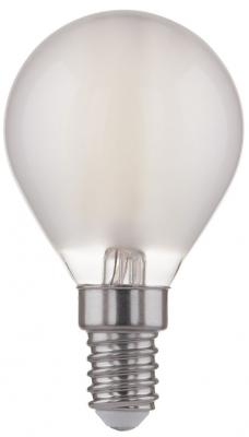 Лампа светодиодная Classic F E14 6W 4200K шар матовый 4690389108310 лампа светодиодная филаментная classic f e14 6w 3300k шар золотой 4690389108303