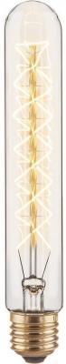 Лампа накаливания диммируемая E27 60W трубчатая прозрачная 4690389082146 от 123.ru