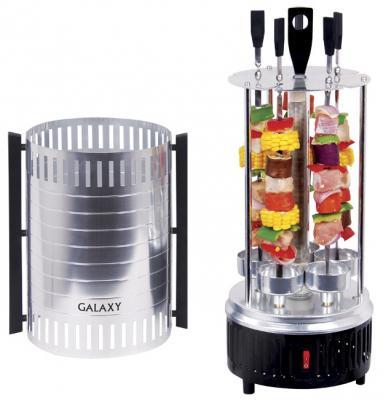 Электрошашлычница GALAXY GL2610 серебристый чёрный электрошашлычница galaxy gl 2610