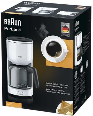 Кофеварка Braun KF 3120 белый цена и фото