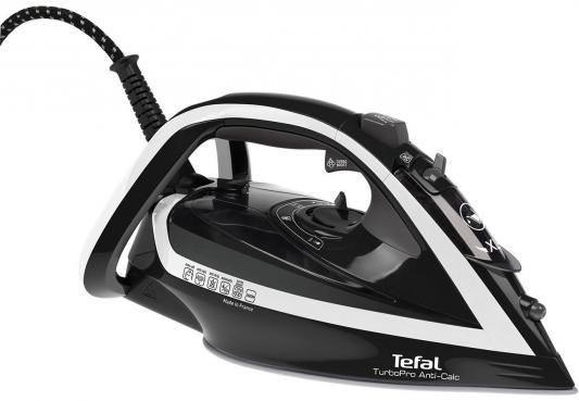 Утюг Tefal TurboPro Anti-Calc FV5645 2600Вт чёрный белый утюг tefal fv 5645