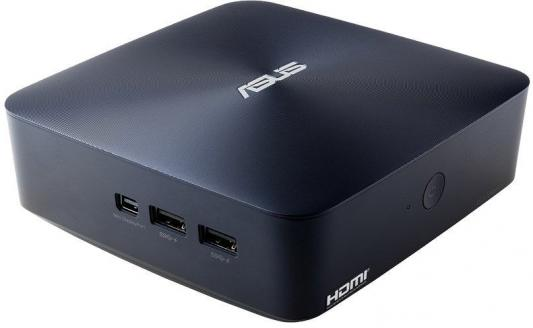 Неттоп ASUS VivoMini UN45H-DM013Z Intel Celeron-N3150 2Gb 500Gb Intel HD Graphics Windows 10 Home синий 90MS00R2-M02000 ноутбук asus vivobook x540sa pentium n3700 1 6ghz 15 6 2gb 500gb hd graphics dos black 90nb0b31 m05100