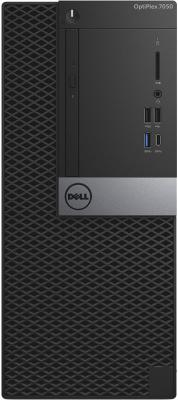 Системный блок DELL Optiplex 7050 MT i7-6700 3.4GHz 16Gb 512Gb SSD R7 450-4Gb DVD-RW Win10Pro клавиатура мышь черный серебристый 7050-2578