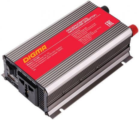 Автомобильный инвертор напряжения Digma DCI-600 600Вт автомобильный инвертор напряжения digma dci 300 300вт