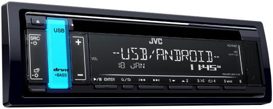 Автомагнитола JVC KD-R491 USB MP3 CD FM RDS 1DIN 4x50Вт черный