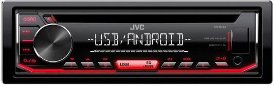 Автомагнитола JVC KD-R492 USB MP3 CD FM RDS 1DIN 4x50Вт черный автомагнитола kenwood kmm 103ry usb mp3 fm rds 1din 4х50вт черный