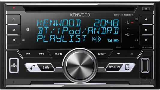 Автомагнитола Kenwood DPX-5100BT USB MP3 CD FM RDS 2DIN 4х50Вт черный the north face ski tuke iv os t0a6w6
