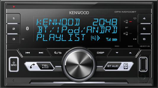 Автомагнитола Kenwood DPX-M3100BT USB MP3 CD FM RDS 2DIN 4х50Вт черный the natural wedding