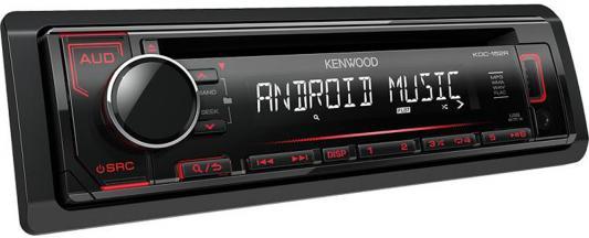 Автомагнитола Kenwood KDC-152R USB MP3 CD FM RDS 1DIN 4х50Вт черный автомагнитола kenwood kdc 151ry usb mp3 cd fm 1din 4х50вт черный