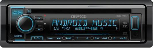 Автомагнитола Kenwood KDC-172Y USB MP3 CD FM RDS 1DIN 4х50Вт черный автомагнитола kenwood kmm 103gy usb mp3 fm 1din 4х50вт черный