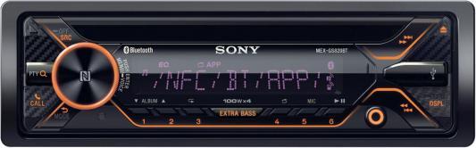 Автомагнитола SONY MEX-GS820BT USB MP3 CD FM 1DIN 4x100Вт черный автомагнитола sony mex gs820bt usb mp3 cd fm 1din 4x100вт черный