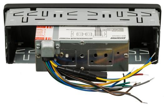 Автомагнитола Digma DCR-110B24 USB MP3 FM 1DIN 4x45Вт черный видеорегистратор digma freedrive 303 mirror dual