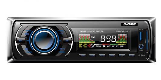 Автомагнитола Digma DCR-320B USB MP3 FM 1DIN 4x45Вт черный hd 320b