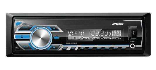 Автомагнитола Digma DCR-420B USB MP3 FM 1DIN 4x45Вт черный автомагнитола kenwood kmm 103ay usb mp3 fm 1din 4х50вт черный