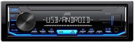 Автомагнитола JVC KD-X151 USB MP3 FM 1DIN 4x50Вт черный автомагнитола kenwood kmm 103ay usb mp3 fm 1din 4х50вт черный