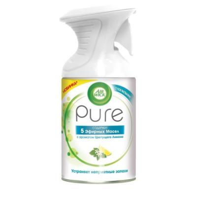 Air Wick Pure Освежитель воздуха 5 Эфирных Масел с ароматом Цветущего Лимона 250 мл air wick pure освежитель воздуха 5 эфирных масел с ароматом цветущего лимона 250 мл