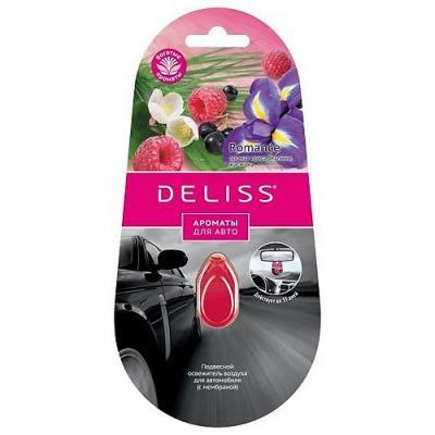 DELISS Подвесной освежитель воздуха для автомобиля Romance 4мл deliss мембранный освежитель воздуха для автомобиля серии comfort и harmony 2 аромата 4мл