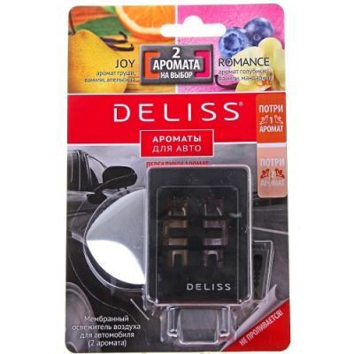 DELISS Мембранный освежитель воздуха для автомобиля серии Romance и Joy 2 аромата 4мл deliss мембранный освежитель воздуха для автомобиля серии comfort и harmony 2 аромата 4мл