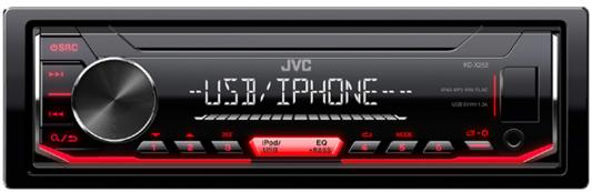 Автомагнитола JVC KD-X252 USB MP3 FM RDS 1DIN 4x50Вт черный автомагнитола kenwood kmm 103ry usb mp3 fm rds 1din 4х50вт черный