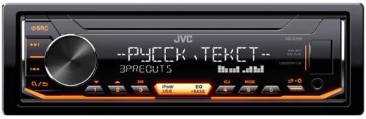 Автомагнитола JVC KD-X355 USB MP3 FM 1DIN 4x50Вт черный автомагнитола kenwood kmm 103ay usb mp3 fm 1din 4х50вт черный