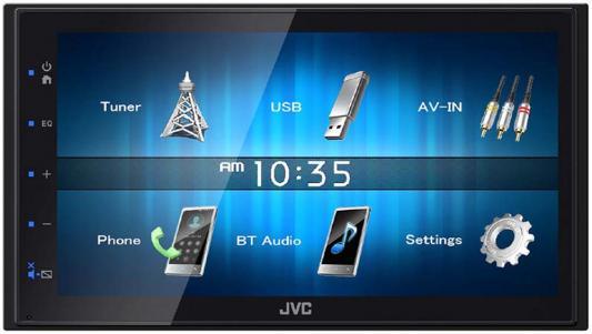 Автомагнитола JVC KW-M14 6.8 800x480 USB MP3 FM RDS 2DIN 4x50Вт черный автомагнитола jvc kw m24bt usb mp3 fm rds 2din 4x50вт черный