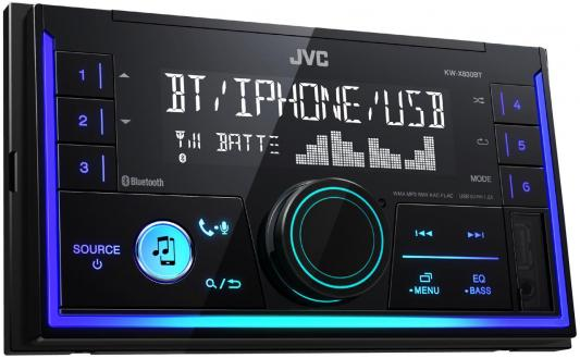 Автомагнитола JVC KW-X830BT USB MP3 FM RDS 2DIN 4x50Вт черный gps navigation hd 2din 6 2 inch car stereo dvd player bluetooth ipod mp3 tv camera