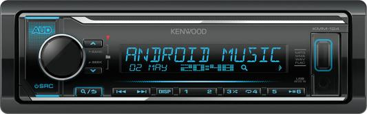 Автомагнитола Kenwood KMM-124 USB MP3 CD FM RDS 1DIN 4х50Вт черный автомагнитола kenwood kmm 104ay usb mp3 fm rds 1din 4х50вт черный