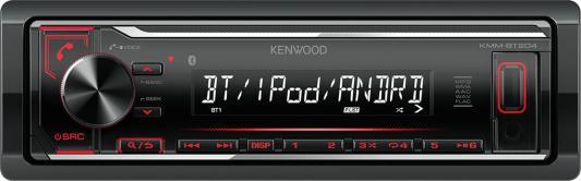 Автомагнитола Kenwood KMM-BT204 USB MP3 CD FM RDS 1DIN 4х50Вт черный автомагнитола kenwood kmm 203 usb mp3 fm 1din 4х50вт черный