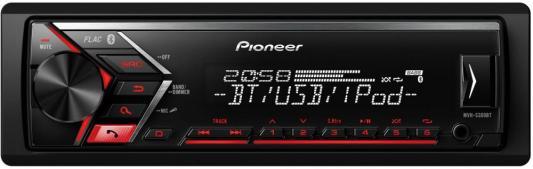 Автомагнитола Pioneer MVH-S300BT USB MP3 FM RDS 1DIN 4x50Вт черный автомагнитола kenwood kmm 103ry usb mp3 fm rds 1din 4х50вт черный
