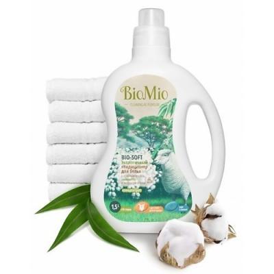 Кондиционер для белья BioMio Bio-Soft 1.5л КЭ-250 детские моющие средства biomio экологичный стиральный порошок для белого белья без запаха 1500 г