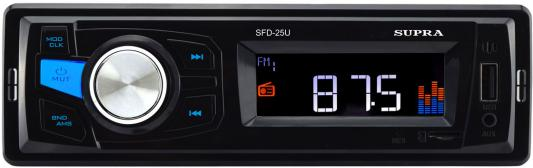 Автомагнитола Supra SFD-25U USB MP3 FM 1DIN 4x40Вт черный автомагнитола supra sfd 47u usb mp3 fm 1din 4x40вт черный