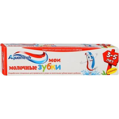 Зубная паста Aquafresh Мои молочные зубки 50 мл NS8005500/PNS7093900 aquafresh зубная щетка hd зубная паста отбеливающая aquafresh 75 мл