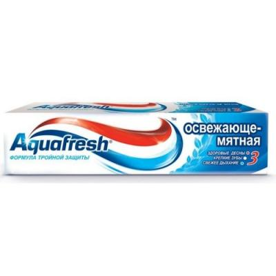 Зубная паста Aquafresh Освежающе-Мятная 50 мл PNS70808RU00/PNS7094100 зубная паста маленькая фея жемчужная улыбка волшебный фрукт 60 мл 32465773