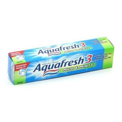 Зубная паста Aquafresh Мягко-Мятная 50 мл PNS7094200 aquafresh зубная щетка hd зубная паста отбеливающая aquafresh 75 мл