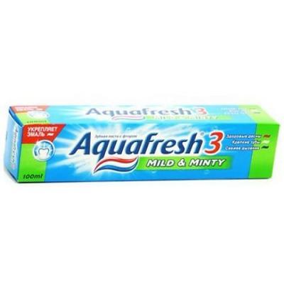 Зубная паста Aquafresh Мягко-Мятная 125 мл PNS70801R00/PNS7093700 aquafresh зубная щетка hd зубная паста отбеливающая aquafresh 75 мл