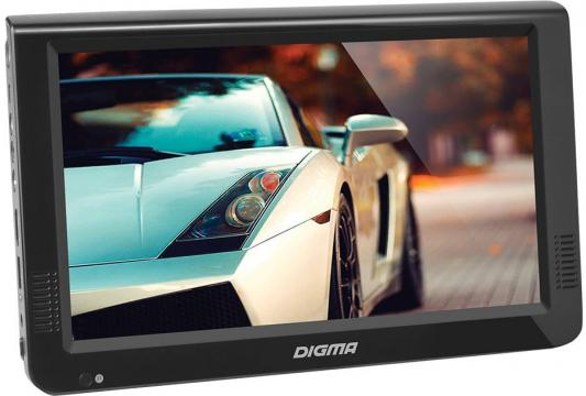 Автомобильный телевизор Digma DCL-1020 10.1 черный автомобильный портативный телевизор digma dcl 700 7 16 9 черный