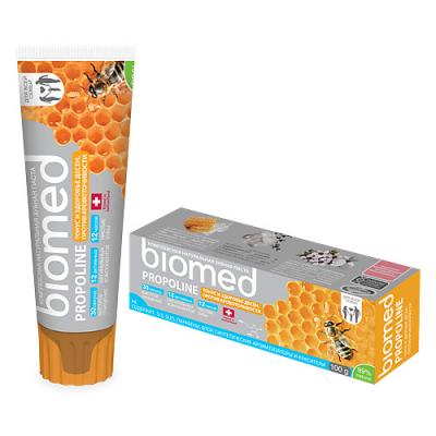 Зубная паста Biomed Прополис 100 мл зубная паста колгейт прополис отбеливающая 50 мл 1109433