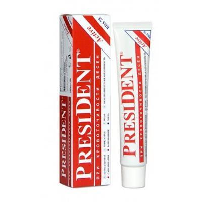 Зубная паста President Актив 75 мл зубная паста president president зубная паста active plus туба 30 мл
