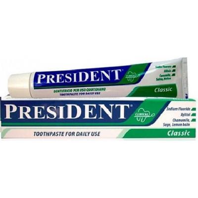 Зубная паста President Классика 75 мл зубная паста president antibacterial 75 мл