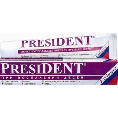 Зубная паста President Эксклюзив 75 мл зубная паста president antibacterial 75 мл
