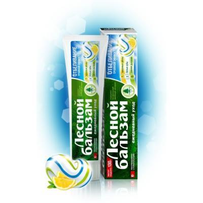 Зубная паста Лесной бальзам Тройной эффект Отбеливание 130 гр 32 зубная паста бионорма тройной эффект 75мл