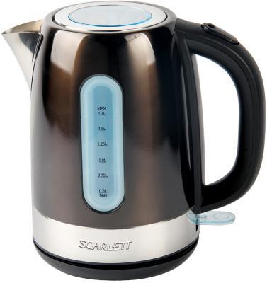 Чайник Scarlett SC-EK21S39 2200 Вт коричневый 1.7 л нержавеющая сталь чайник scarlett sc ek21s46 2200 вт серебристый чёрный 1 7 л нержавеющая сталь