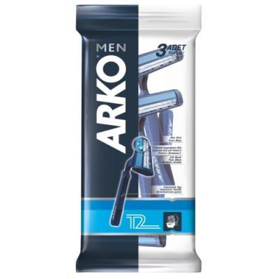 Бритвенный станок Arko Men Regular 2 3 станок д бритья arko system3 однораз 4шт уп