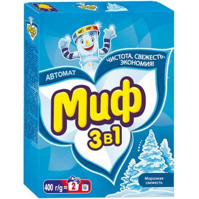 Стиральный порошок МИФ 3в1 Морозная свежесть 400г миф