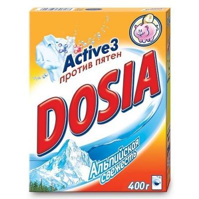 Стиральный порошок DOSIA Альпийская свежесть 400г dosia концентрат ополаскивателя для белья альпийская свежесть 1л