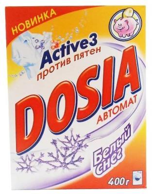 DOSIA Стиральный порошок автомат Белый снег 400г рб dosia стир порошок авт белый снег 400гр 931553