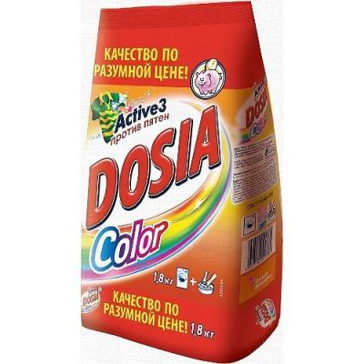 Стиральный порошок DOSIA Color 1.8кг стиральный порошок для ручной стирки пемос 350 г